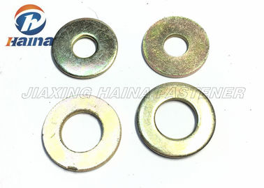 Trung Quốc Color Plated Flat Washers Plain Carbon Steel Round Head For Iron Stamping Out nhà máy sản xuất