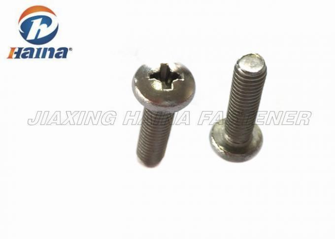 Pan Head Stainless Steel Machine Screws Phillips Drive For Installation Works