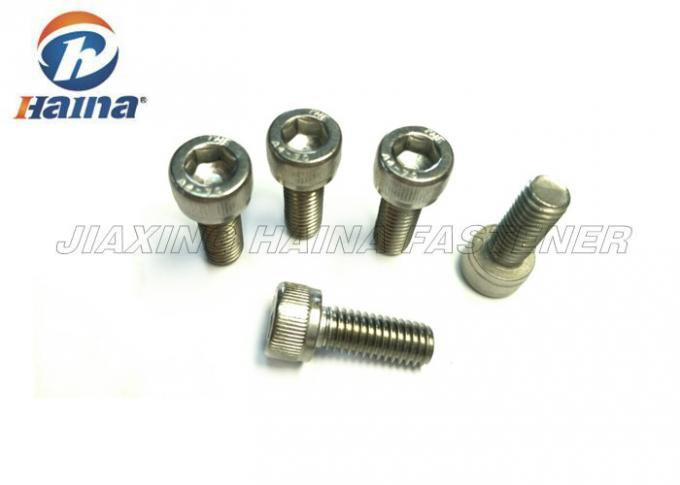 A2 70 Stainless Steel Machine Screws DIN 912 Silver Color With Socket Cap Head