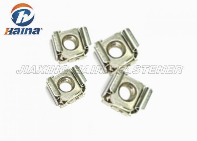 Stainless Steel 304  Plain Color M6 Rack Mounting Cage Nuts for Server Rack Cabinet