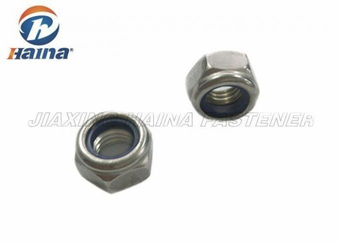 Nylon Insert Lock Nuts SS304 M12x1.25 UNC Self Locking Nuts Resist Loosening